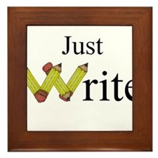 Just Write Framed Tile