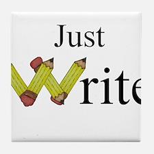 Just Write Tile Coaster