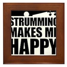 Strumming Makes Me Happy Framed Tile