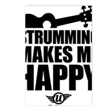Strumming Makes Me Happy Postcards (Package of 8)