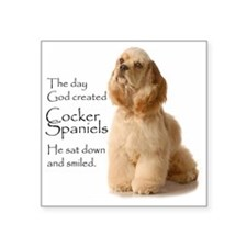 "Cocker Spaniel Square Sticker 3"" x 3"""