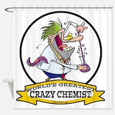 WORLDS GREATEST CRAZY CHEMIST CARTO Shower Curtain