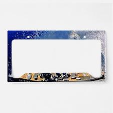 iowa framed panel print License Plate Holder