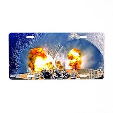 iowa framed panel print Aluminum License Plate