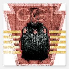 "GG1-T Shirt logo final Square Car Magnet 3"" x 3"""