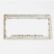 Laptop Skin - Vintage Music S License Plate Holder