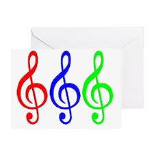 MUSIC V Greeting Card