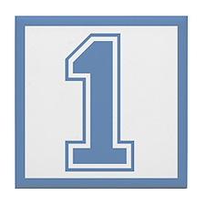 Blue #1 Tile Coaster