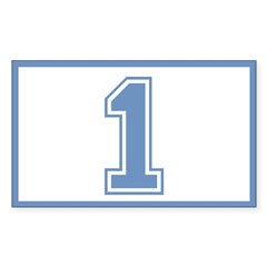 Blue #1 Rectangle Decal