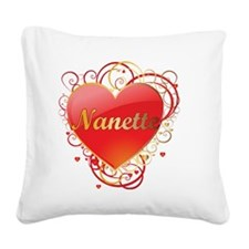 Nanette-Valentines Square Canvas Pillow