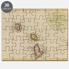 Laptop Skin - Vintage Society Islands Map Puzzle