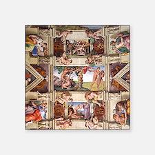"sistine-chapel-tile Square Sticker 3"" x 3"""