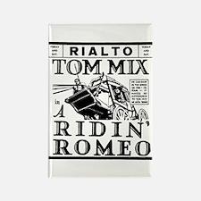 Tom Mix A Ridin' Romeo Rectangle Magnet