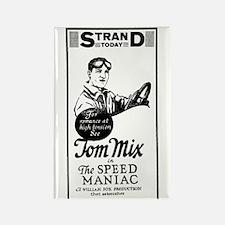 Tom Mix Speed Maniac Rectangle Magnet