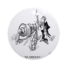 1469_music_cartoon Round Ornament