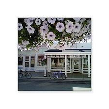 "Mackinaw Purple Flowers Square Sticker 3"" x 3"""