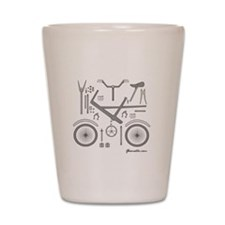Bike Parts Large Shot Glass