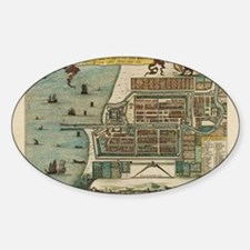 Laptop Skin - Vintage Map of Jakart Decal