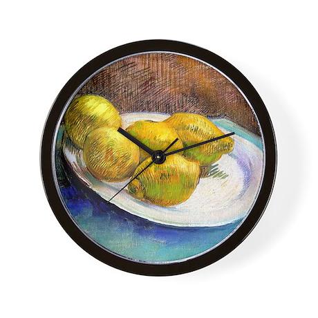 12mo VG Lemons Wall Clock