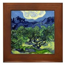 12mo VG Olive Trees Framed Tile