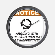 Librarian_Notice_Argue_RK2012_10x10 Wall Clock