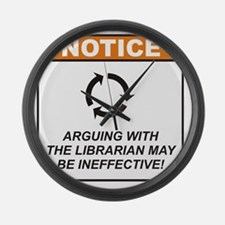 Librarian_Notice_Argue_RK2012_10x Large Wall Clock