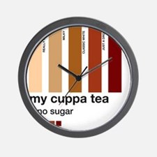 my-cuppa-tea-colour-match-palette Wall Clock
