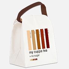 my-cuppa-tea-colour-match-palette Canvas Lunch Bag