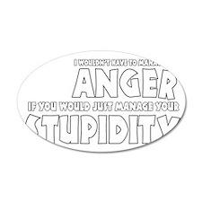 Anger vs. Stupidity Wall Decal