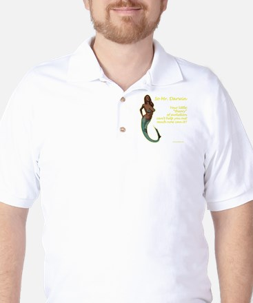 Mermaids - and the theory of evolution Golf Shirt