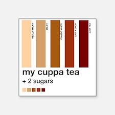 "my-cuppa-tea-colour-match-p Square Sticker 3"" x 3"""