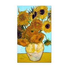V1 VG Sunflowers Rectangle Car Magnet