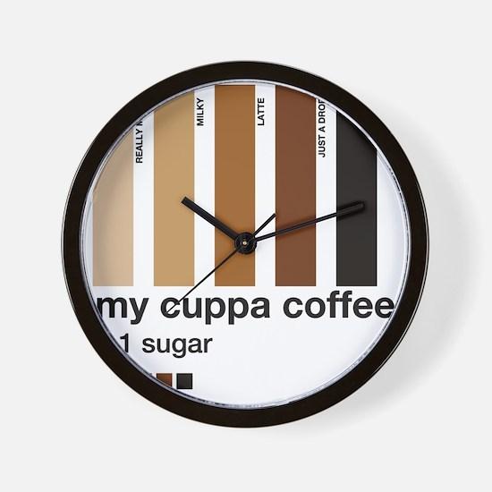my-cuppa-coffee-1-sugar Wall Clock
