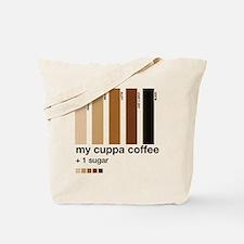 my-cuppa-coffee-1-sugar Tote Bag