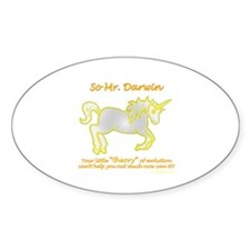 Unicorns - and the theory of evolution Decal