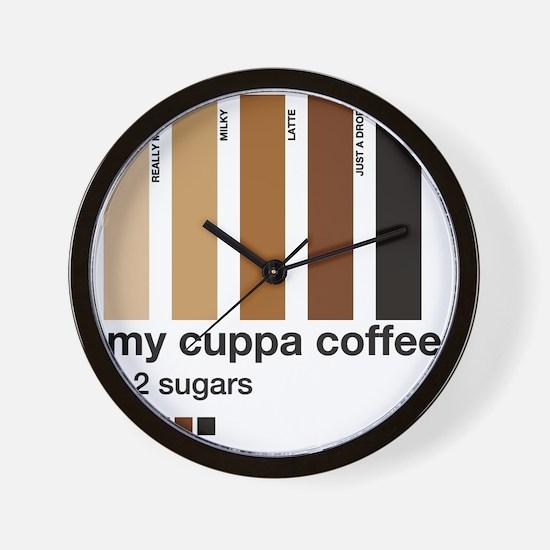 my-cuppa-coffee-2-sugars Wall Clock