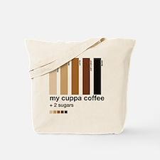 my-cuppa-coffee-2-sugars Tote Bag
