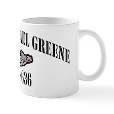 ngreene black letters Mug