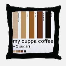my-cuppa-coffee-2-sugars Throw Pillow