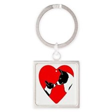 Cardiloveheartjewelry Square Keychain