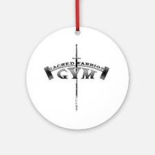 sacred-warrior-gym Round Ornament
