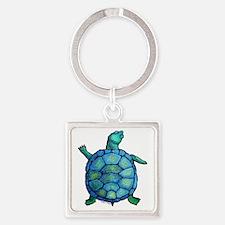 turtleboogie Square Keychain