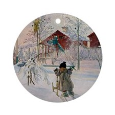 Larsson 3 Round Ornament