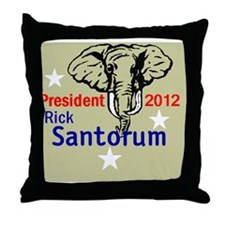Santorum 2012 Throw Pillow