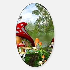 dwarfesland_ipad_2 Sticker (Oval)