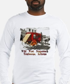 old west stagecoach Long Sleeve T-Shirt