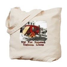 old west stagecoach Tote Bag