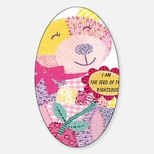 Pink bear Sticker (Oval)