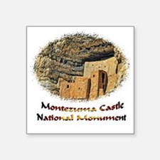 "Montezuma Castle Natl Monum Square Sticker 3"" x 3"""
