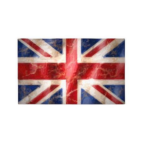 475 Union Jack Flag wall peel 3'x5' Area Rug